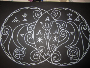 Mandala drawing from last pregnancy