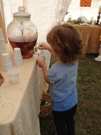 My little maiden has some tea from Brigid's temple