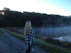 Misty morning walk.