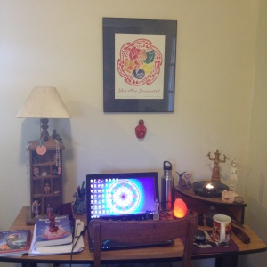 My little temple space in which to create in uninterrupted time...